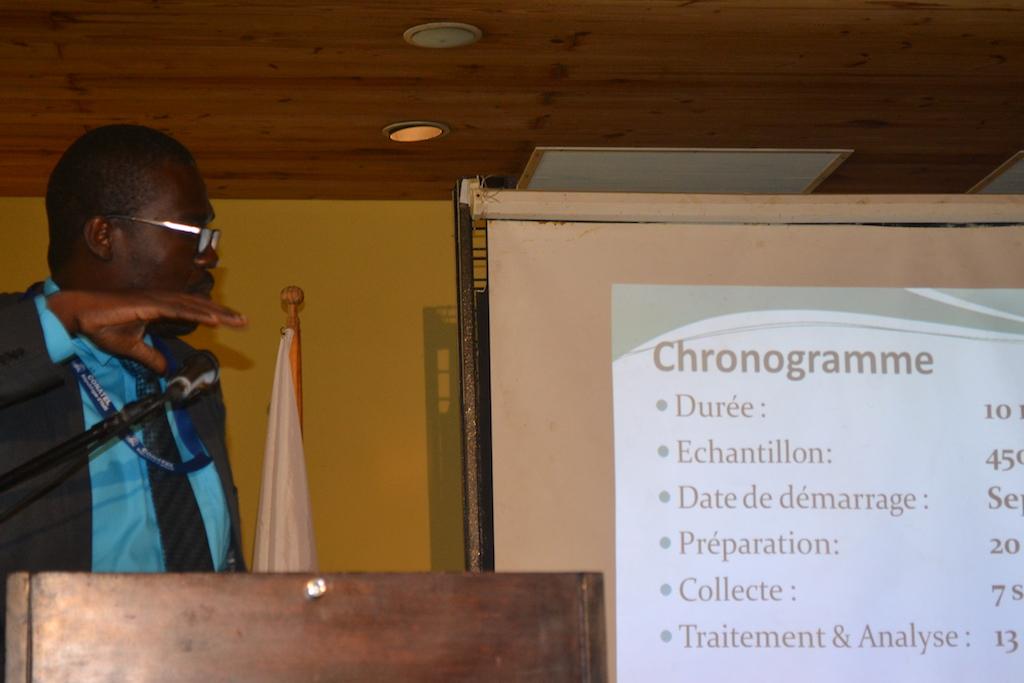 David Lafontant présentant l objectif du plan de déploiement de la télévision numérique