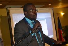 David Lafontant présentant le plan de déploiement de la télévision numérique