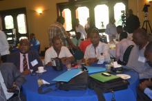 Vue sur l assistance, junior Alexis du ministère de la planification, Eddy Charleus directeur de la radio megastar
