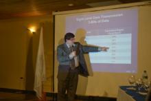 L'intervenant Denis wallace représentant de  la compagnie MSW des Etats-Unis