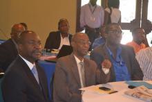 Quelques Employés du Conatel, Monsieur Rose Nesmy Saint-Louis consultant, Mr Roberto Morose directeur du service Technique, ainsi que David Lafontant.